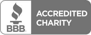 Better Business Bureau accredited charity seal